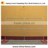 6 foot height cheap price chain link fence / construction chain link fence panel with cross brace