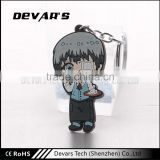 Hot sale custom plastic cartoon loving girls and handsome boys shaped keychain