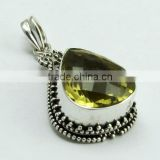 Very Beautiful Design !! Lemon Topaz 925 Sterling Silver Pendant, Gemstone Silver Jewelry, Silver Jewelry