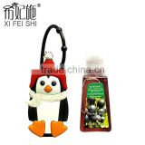 30ml Hot Selling Cute Mini Penguin Cartoon Figure Antibacterial Gel Hand Sanitizer Holders for Travel