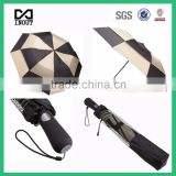 Black and white 27 inch double canopy windproof high quality compact golf umbrella