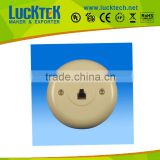 RJ11 telephone round modular jack assmbly wall plate, single modular wall mounted