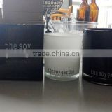 High quality logo printing glass candle jars with color