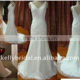 Lace&beading with tail custom wedding gown luca