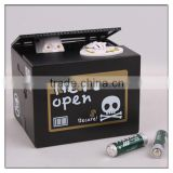 2015 Hot New Amazing Human Skull Stealing Coin box Piggy banks, Black