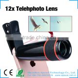 Apexel mobile lens clip 12x telephone 180 fisheye external camera lens kit for android phone