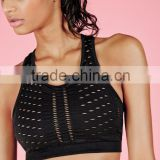 Cut Out Style Sports Bra With Racer Back Crop Top