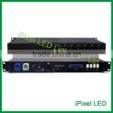 Professional lighting dimmer artnet LED controller,16*512 DMX channel controller,dmx multi channel led controller
