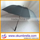 Large Stick Strong Windproof Man Black Golf Umbrella