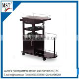 Trolley type wine bottle houseware wooden display cabinet/atm/china suppliers/new products