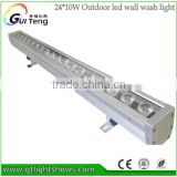 Top Sell & Top Quality IP65 Outdoor Waterproof Slim Bar PRO LED Wash 4in1 RGBW 24*10w DMX Linear LED Wall Washer Light