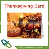 Promotion Thanksgiving Cards Blank Cards with Kraft Envelopes