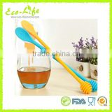 Cute Smiley Silicone Honey Dipper Server, Stirring Honey Stick, Coffee Jam Dessert Spoon Mixing Bar