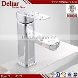 Italy simple design faucet mixer, total brass body with water saving faucet, reasonable price wash basin tap