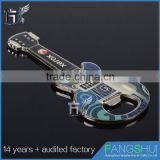 Artgifts High quality metal cheap wholesale customguitar shape bottle opener with magnet