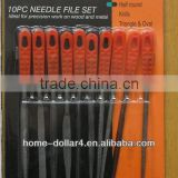 10pc Steel Electroplated Diamond Straight-Pitch Square Needle Files Set