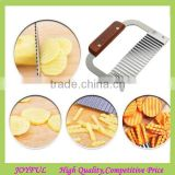 stainless steel handle potato wavy edged knife kitchen gadget cutting peeler cooking tools