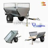 Heavy duty outdoor utility pulled atv log trailer
