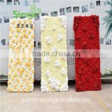 SJLJ013440 high quality artificial flowers wall / wedding backdrop artificial flowers wall