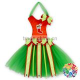 Red Green Christmas Stockings Printed Fancy Bow Holder, New Hot Item Gifts For Girls Tutu Bow Holder