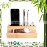 Aonong Bamboo desktop organnizer with pen holder/iphone rack