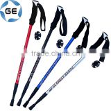 High Quality EVA Grip 3 Sections Telescopic Trekking Pole Outdoor Walking Alpenstock Aluminium Alloy Hiking Stick