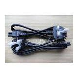3A Fuse 1.5M Length Black Mickey Mouse Power Cable , C5 Cloverleaf Power Cord UK BS EN60320