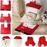 christmas snowman toilet seat cover set bathroom mat closestool cover