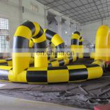 Large inflatable auto racing track inflatable race car tracks for kids