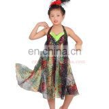 Subtle confetti colourful Children dance costume dress skirt ET-028#