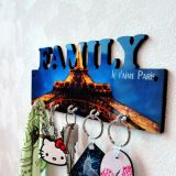 Sublimation MDF Key Holder with FAMILY words