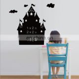 Castle shaped vinyl decal wall decorative chalkboard sticker