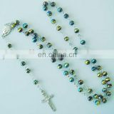 glass round rosary