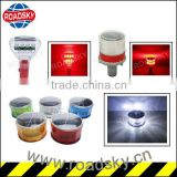 High Quality Yellow Round Led Barricade Warning Light For Traffic