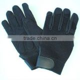 high quality and newly fashionable design black mechanic gloves with synthetic leather, keep warm