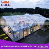 2015 Luxury transparent pvc fabric clear span frame wedding tent for outdoor luxury event