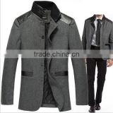 new men's long wool coat/latest design wool coats/winter season men's wool coats/custom design wool coats/top quality wool coats