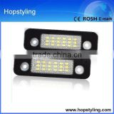super popular auto LED license plate lamp for Mondeo Number plate LED Lamp Canbus No error code