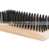 Tempered Steel Wire Brush - 6 Row - Rectangular Shaped Wood Block