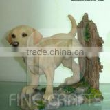 Polyresin dog figurine garden lawn ornaments