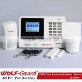 auto dial wireless home pstn alarm systems with learning code accessories and TFT colorful LCD display