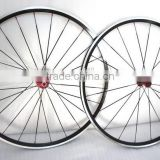 durable carbon alloy wheelset 24mm depth with powerway hub 700c racing bike bicycle clincher alloy wheels