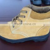 Genuine leather work boot, safety shoes for Work Men