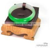 AN84 ANPHY Single Wood Base Horizontal Shelf Purple Bracelet Jewelry Display Box Army Green 9.5*9.5*6.5cm 270g