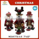 2015 Newest Christmas Products Animation Snata with Skateboard Snowman Reinbeer Decoration
