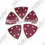 Triangle-shaped Abrasive Velcro Discs, Supports the Use of Power Tools, Ideal for Hand Tooling