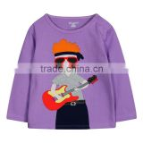 2015 New! Casual baby t shirts wholesale 100% cotton t shirts couple long sleeve plain t shirt wholesale China (Ulik-T10)