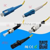 SC/LC/FC/ST/E2000 connector single mode simplex fiber optic patchcord