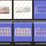 10 x Clear Empty Box/Nail Art Box /French Tips Case/ Storage Case Box 11 Cells For False Nail Art Tips Gems