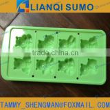 LFGB/FDA Food Grade plastic ice cube tray mould with pp bear shape